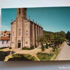 Postales: POSTAL -- CALDAS DE REYES - IGLESIA DE SANTO TOMAS Y PASEO DE LAS PALMERAS -- ESCRITA --. Lote 194272627