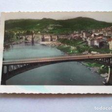 Postales: POSTAL -- ORENSE - PUENTES SOBRE EL MIÑO -- ESCRITA --. Lote 194273027