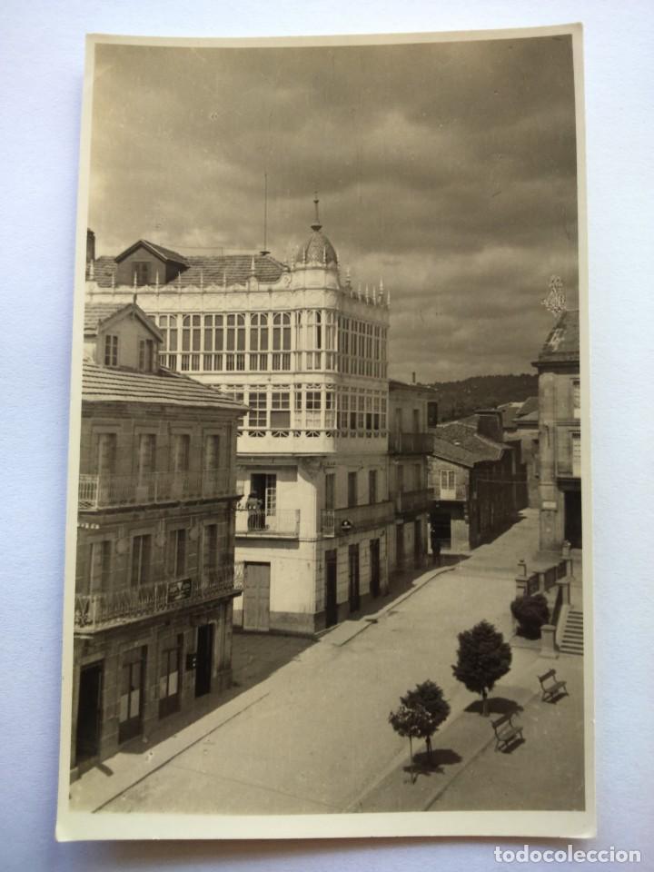 POSTAL -- CARBALLINO - VISTA PARCIAL DE LA PLAZA MAYOR -- ESCRITA -- (Postales - España - Galicia Moderna (desde 1940))