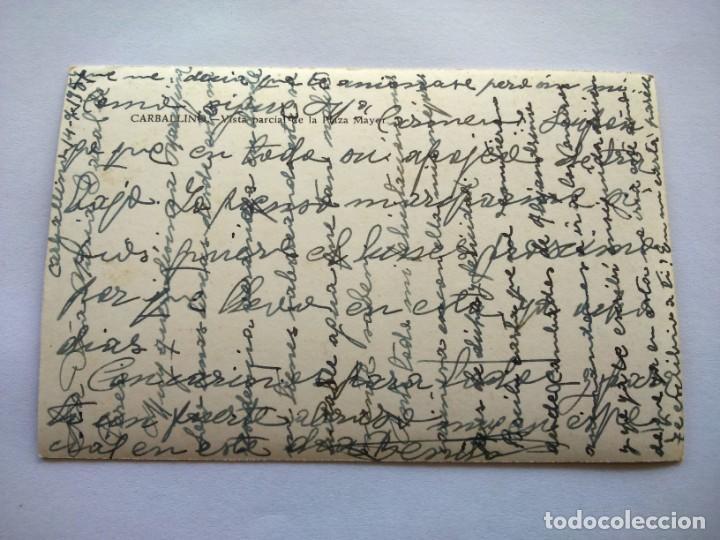 Postales: POSTAL -- CARBALLINO - VISTA PARCIAL DE LA PLAZA MAYOR -- ESCRITA -- - Foto 2 - 194333074