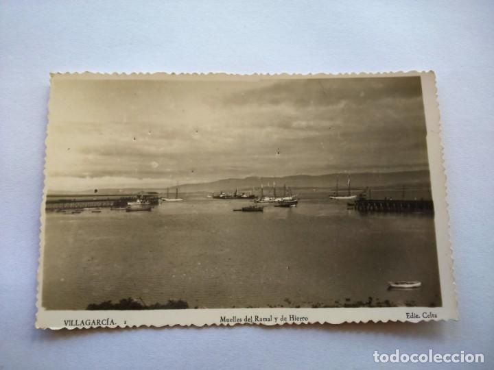 POSTAL -- VILLAGARCIA - MUELLES DEL RAMAL Y DE HIERRO -- SIN USO -- (Postales - España - Galicia Moderna (desde 1940))