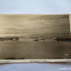 Postales: POSTAL -- VILLAGARCIA - MUELLES DEL RAMAL Y DE HIERRO -- SIN USO --. Lote 194333157