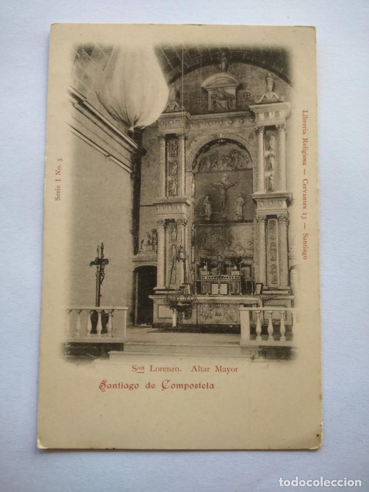 POSTAL -- SANTIAGO DE COMPOSTELA - SAN LORENZO. ALTAR MAYOR -- (Postales - España - Galicia Moderna (desde 1940))