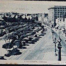 Postales: LA CORUÑA, CANTONES POSTAL CIRCULADA CON SELLO DEL AÑO 1945. Lote 194491387