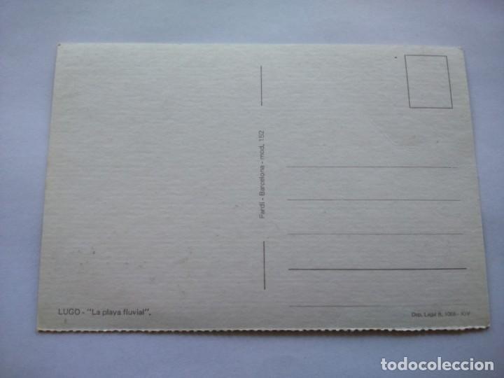 Postales: POSTAL -- LUGO - LA PLAYA FLUVIAL -- SIN USO -- - Foto 2 - 194499587
