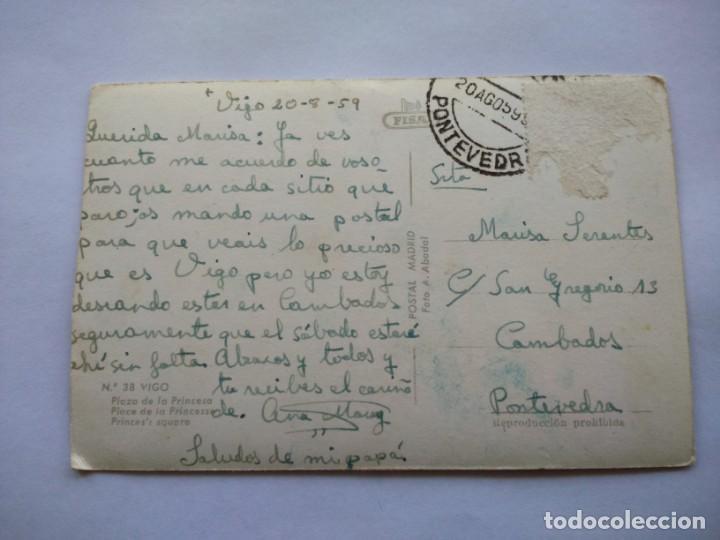 Postales: POSTAL -- VIGO - Nº 38 -- PLAZA DE LA PRINCESA -- CIRCULADA -- - Foto 2 - 194500566