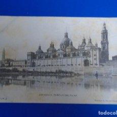 Postales: ZARAGOZA TEMPLO DEL PILAR FOTOTIPIA L. ESCOLA ZARAGOZA Nº 3. Lote 194507342