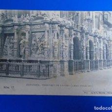 Postales: ZARAGOZA TRASCORO DE LA SEO FOTOTIPIA L. ESCOLA ZARAGOZA Nº 17. Lote 194508208