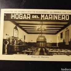 Postales: EL FERROL DEL CAUDILLO, CORUÑA, GALICIA, CUARTEL DE MARINERIA, CARPETA CON 18 POSTALES, MUY RARO. Lote 194509440