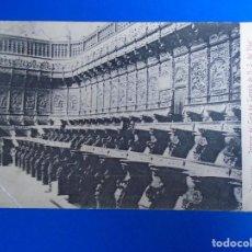 Postales: ZARAGOZA INTERIOR DEL CORO DEL TEMPLO DE N.S.DEL PILAR EDIT.LA CONCORDIA DE ZARAGOZA. Lote 194509556