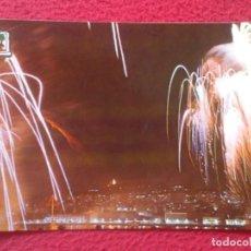 Postales: POSTAL POST CARD GALICIA PONTEVEDRA VIGO BOUZAS FUEGOS DE ARTIFICIO AL FONDO MONTE EL CASTRO VER..... Lote 194565473