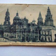 Postales: POSTAL -- SANTIAGO DE COMPOSTELA - CATEDRAL, FACHADA NORTE DE LA AZABACHERIA -- ESCRITA --. Lote 194621788