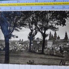 Postales: POSTAL DE CORUÑA. AÑOS 30 50. SANTIAGO DE COMPOSTELA VISTA GENERAL PASEO DE LA HERRADURA 2720. Lote 194639367