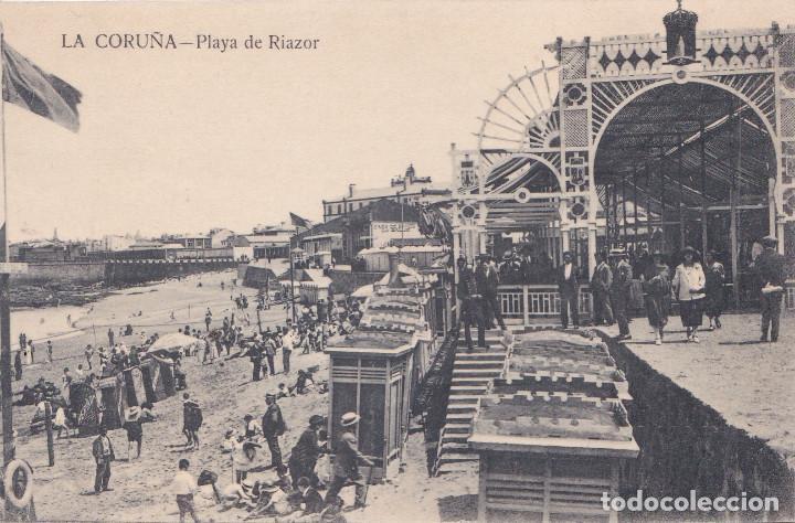 LA CORUÑA - PLAYA DE RIAZOR (Postales - España - Galicia Antigua (hasta 1939))