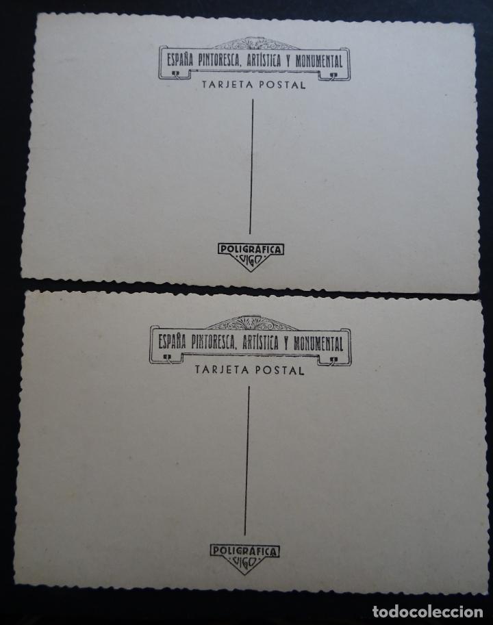 Postales: 2 antiguas postales de La Guardia (Pontevedra), coleccion España Pintoresca, Artisitica y Monumental - Foto 2 - 194721766
