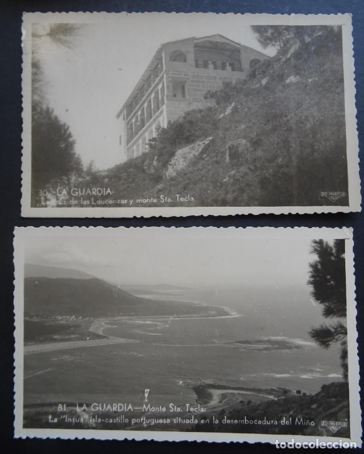 2 ANTIGUAS POSTALES DE LA GUARDIA (PONTEVEDRA), COLECCION ESPAÑA PINTORESCA, ARTISITICA Y MONUMENTAL (Postales - España - Galicia Antigua (hasta 1939))
