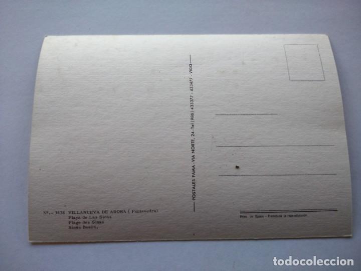 Postales: POSTAL -- VILLANUEVA DE AROSA - PLAYA DE LAS SINAS -- SIN USO -- - Foto 2 - 194863891