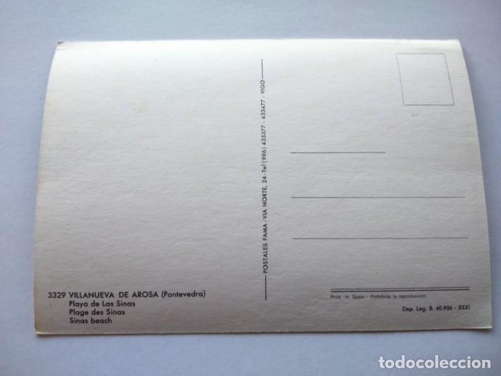 Postales: POSTAL -- VILLANUEVA DE AROSA - PLAYA DE LAS SINAS -- SIN USO -- - Foto 2 - 194863976