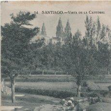 Postales: LOTE V-POSTAL SANTIAGO DE COMPOSTELA GALICIA FECHADA EN 1921. Lote 194916670