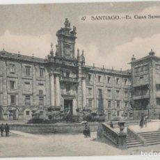 Postales: LOTE V-POSTAL SANTIAGO DE COMPOSTELA GALICIA FECHADA EN 1921. Lote 194916802