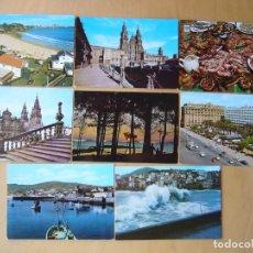 Postales: LOTE 19 POSTALES DE A CORUÑA. Lote 195002797