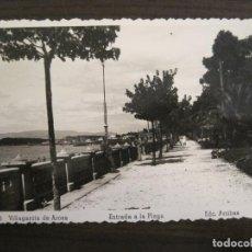 Postales: VILLAGARCIA DE AROSA-ENTRADA A LA PLAYA-ED·ARRIBAS-25-POSTAL ANTIGUA-VER FOTOS-(68.052). Lote 195126505