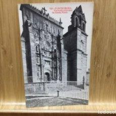 Postales: POSTAL DE PONTEVEDRA.FACHADA PRINCIPAL DE SANTA MARIA.629.ALMIRALL.. Lote 195243242