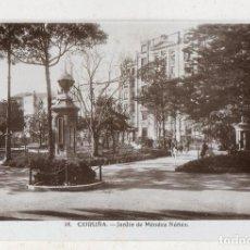 Postales: LA CORUÑA. JARDÍN DE MÉNDEZ NÚÑEZ.. Lote 195276240