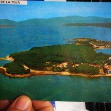 Postales: POSTAL ISLA DE LA TOJA PONTEVEDRA VISTA AÉREA N 3076 FAMA S/C. Lote 195283456
