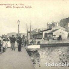 Postales: 1915 VIGO DARSENA DEL BERBES ENCUADERNACION TETILLA - FOTOTIPIA THOMAS BARCELONA. Lote 195310535