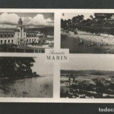 Postales: POSTAL CIRCULADA - MARIN - ESCUELA NAVAL, PLAYA, VISTA GENERAL - EDITA EXCLUSIVAS EL A.B.C. Lote 195409452