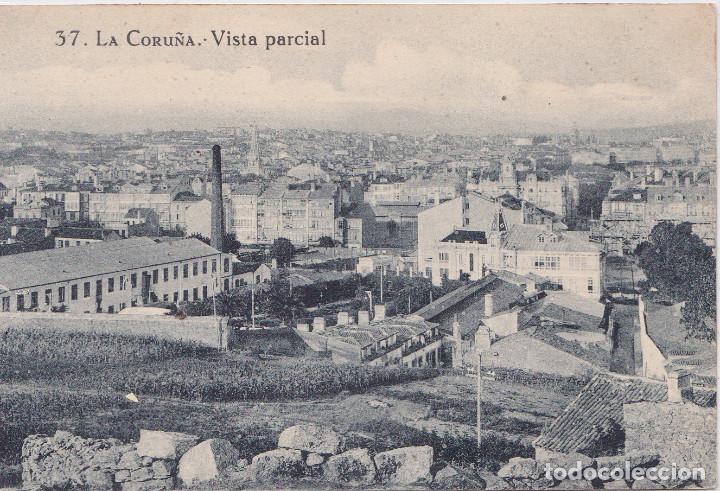 LA CORUÑA - VISTA PARCIAL (Postales - España - Galicia Antigua (hasta 1939))
