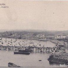 Postales: LA CORUÑA - VISTA DEL PUERTO - LIBRERIA DE LINO PÉREZ. Lote 195667037