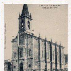 Postales: CALDAS DE REYES. SALIDA DE MISA.. Lote 195926497