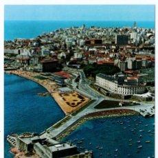 Postales: LA CORUÑA CASTILLO SAN ANTON VISTA AEREA POSTALES FAMA S/C. Lote 195950708