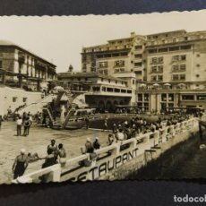 Postales: LA CORUÑA-HOTEL FINISTERRE Y PISCINA LA SOLANA-DOMINGUEZ-15-POSTAL ANTIGUA-(68.570). Lote 196226595