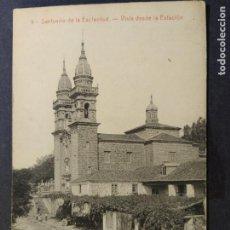 Postales: SANTUARIO DE LA ESCLAVITUD-VISTA DESDE LA ESTACION-THOMAS-9-POSTAL ANTIGUA-(68.573). Lote 196227161