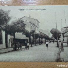 Postales: VERIN (ORENSE).- CALLE DE LUIS ESPADA. Lote 196250651