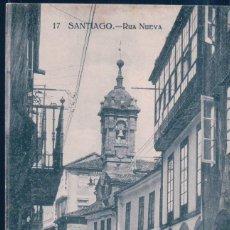 Cartes Postales: POSTAL SANTIAGO - RUA NUEVA - GRAFOS - ESCRITA. Lote 196493771