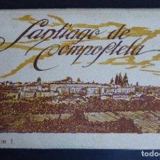 Postales: CARPETA CON 10 ANTIGUAS POSTALES DE SANTIAGO DE COMPOSTELA EDITADAS POR ROISIN. Lote 196535195