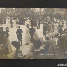 Postales: POSTAL FOTIGRAFICA FERRER LA CORUÑA. 484. FESTEJOS 1907. SIN CIRCULAR.. Lote 196773181