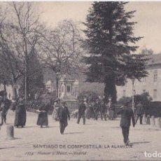 Postales: SANTIAGO DE COMPOSTELA (LA CORUÑA) - LA ALAMEDA. Lote 197060362