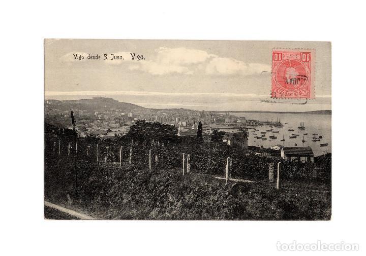 VIGO.(PONTEVEDRA).- DESDE SAN JUAN. (Postales - España - Galicia Antigua (hasta 1939))
