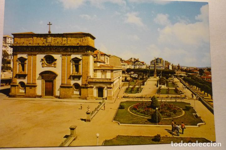 POSTAL EL FERROL DEL CAUDILLO -JARDINES HERRERA -OBELISCO CHURRUCA (Postales - España - Galicia Moderna (desde 1940))