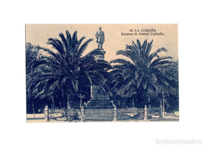 LA CORUÑA.- ESTATUA DE DANIEL CARBALLO. (Postales - España - Galicia Antigua (hasta 1939))