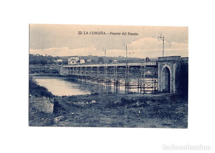 LA CORUÑA.- PUENTE DEL PASAJE. (Postales - España - Galicia Antigua (hasta 1939))