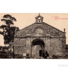 Postales: NOYA.(LA CORUÑA).- IGLESIA DE SANTA MARIA.. Lote 197819250