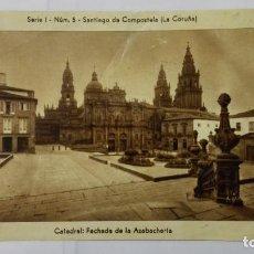 Postales: FOTO SANTIAGO DE COMPOSTELA, LA CORUÑA, CATEDRAL - FACHADA DE LA AZABACHERIA, SERIE 1 - Nº 5. Lote 197924087