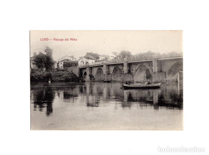 LUGO.(GALICIA).- PAISAJE DEL MIÑO. (Postales - España - Galicia Antigua (hasta 1939))