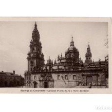 Postales: SANTIAGO DE COMPOSTELA.(CORUÑA).- PUERTA SANTA Y TORRE DEL RELOJ.. Lote 198160253
